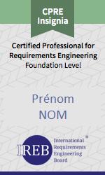 Certificat IREB-CPRE FL insigna